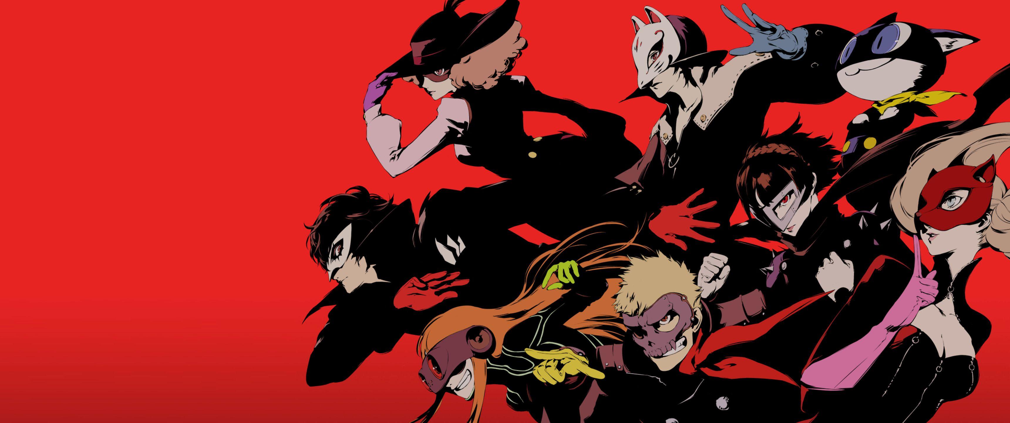 3440x1440 Persona 5 Phantom Thieves [3440x1440