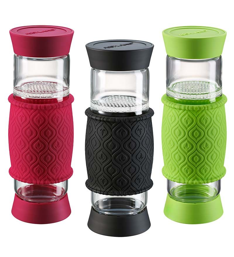 Artland T2go Glass Tea Tumbler With Built In Filter 20 Oz