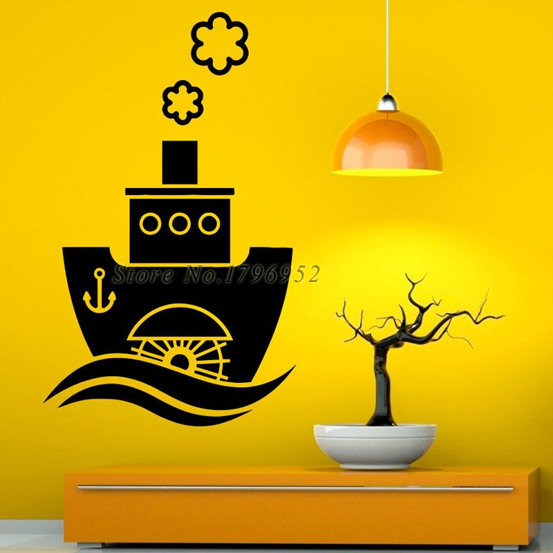 Steamship Wall Decal Sticker Removable Vinyl Decoration For Living ...