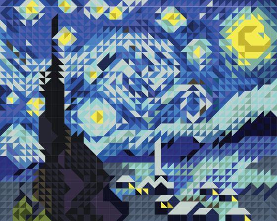 Quilt Pattern Van Gogh S Starry Night Beach Quilt