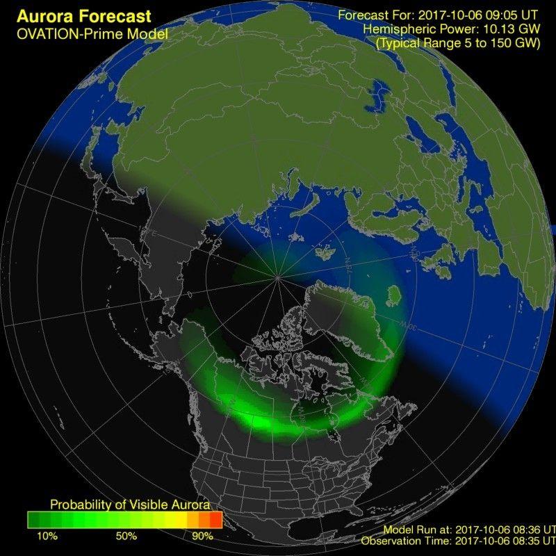 Aurora Forecast Geophysical Institute Aurora forecast
