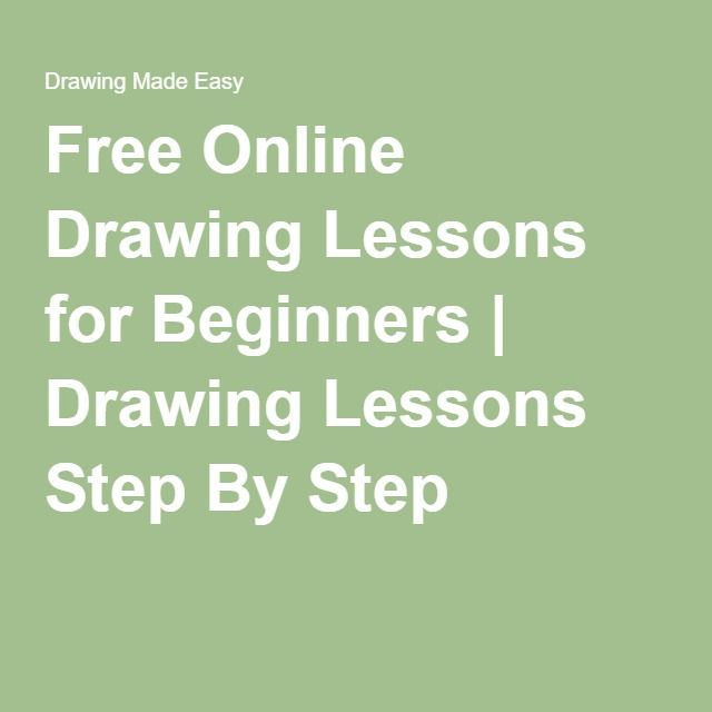 Free Online Drawing Lessons For Beginners Drawing Lessons