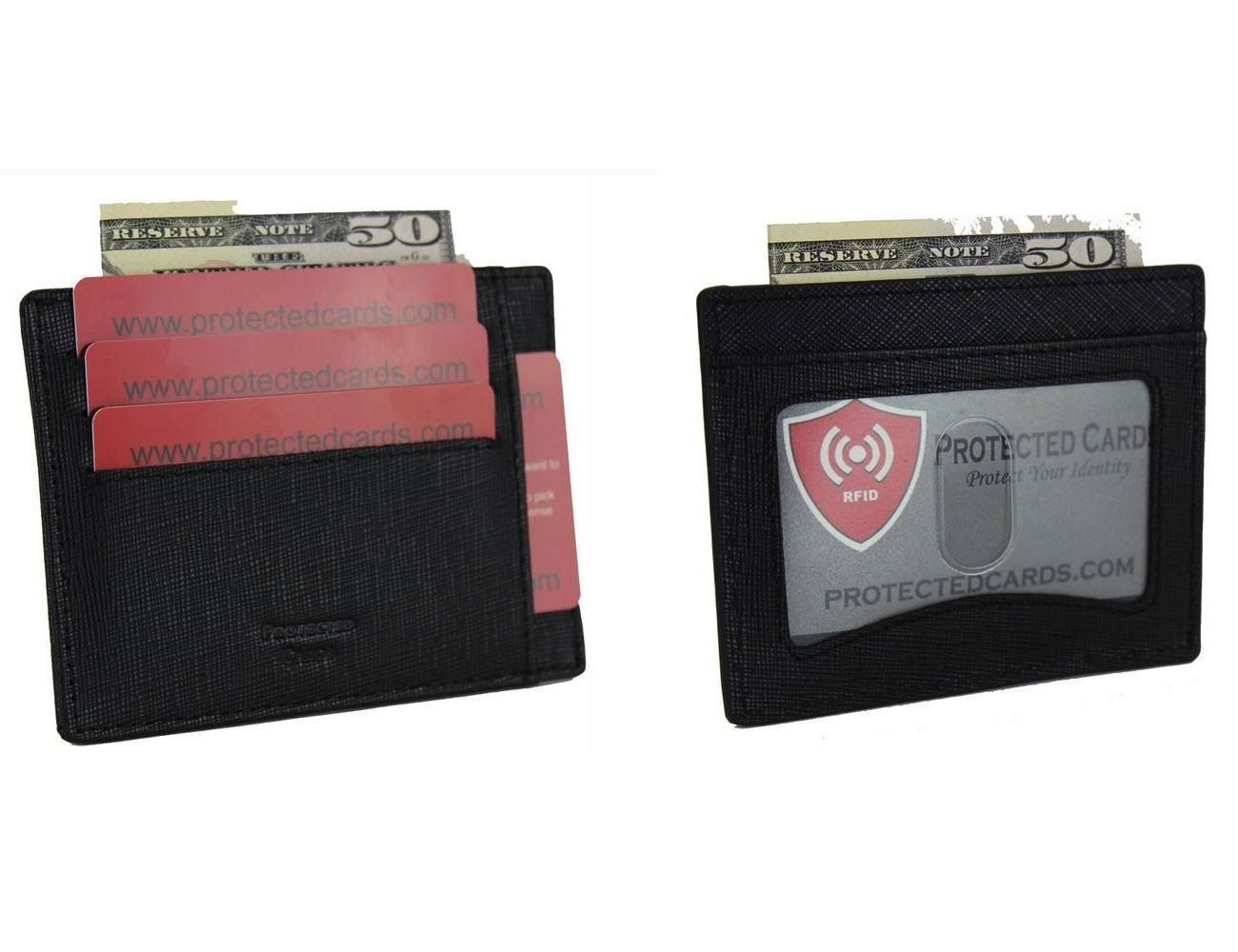 Offered in 2 different Styles, original and I.D. holder. Original style has 4 card slots on each side and opens like a V in the middle to hold cash, where the I.D. window style has 4 card slots and 1 I.D. window as well as the V in the middle.