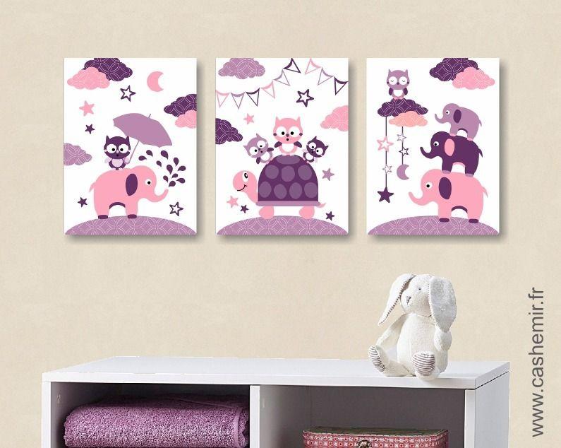 Lot de 3 affiches pour chambre d\u0027enfant fille, poster illustration