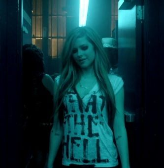 Avril Lavigne What The Hell T Shirt