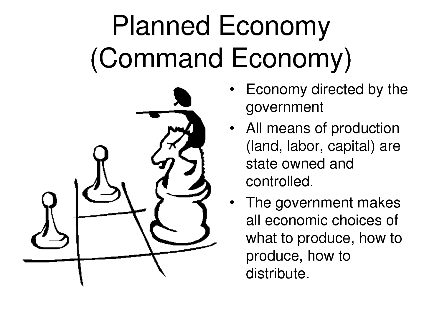an economy in which production investment prices and incomes an economy in which production investment prices and incomes are determined centrally by