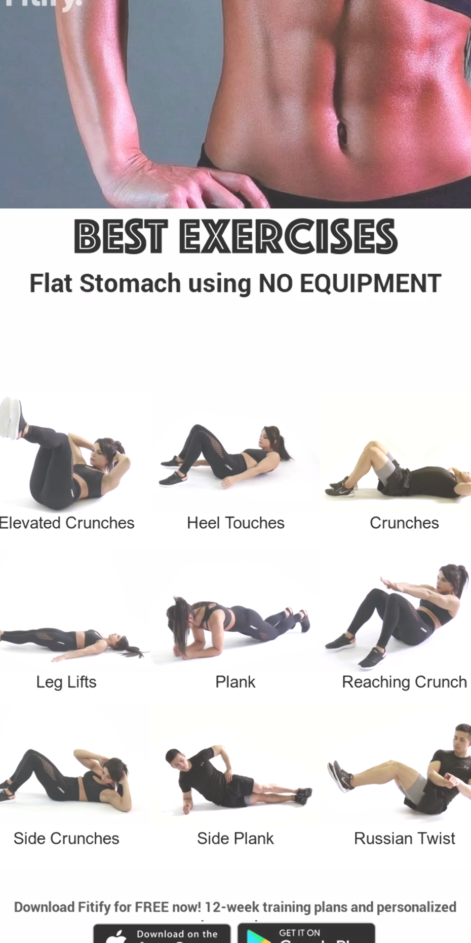 6 Pack for Women ...with NO EQUIPMENT... Ab workout that will get you a shredded six pack in no time...