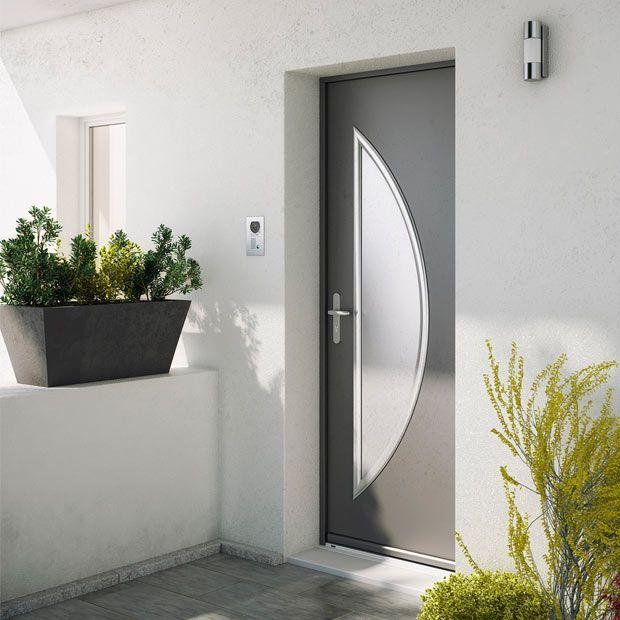 Porte du0027entrée Maïa en acier qui apportera un style contemporain et