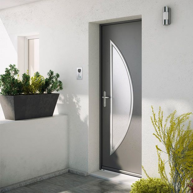 Porte D 39 Entr E Ma A En Acier Qui Apportera Un Style Contemporain Et Moderne Votre Fa Ade