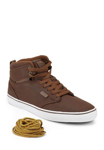 b60c2e6a3a2 Vans Atwood Hi Brown Sneakers. | Style | Pinterest | Sneakers, Brown ...