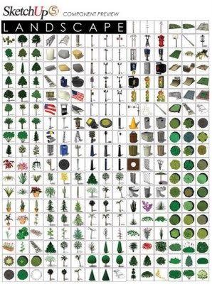 Sketchup Component Landscape | Architecture concept ...