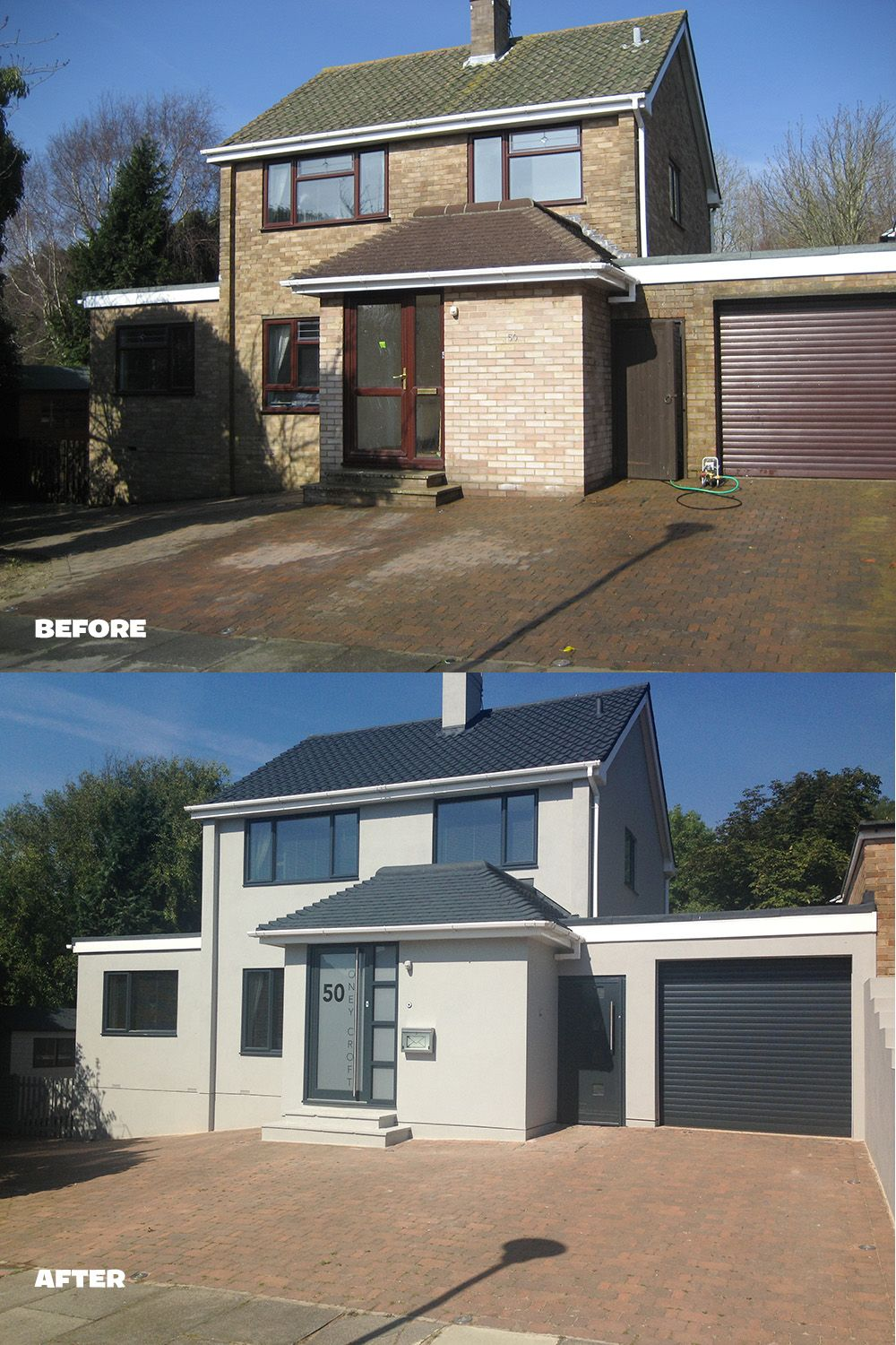 Wow what a transformation rendering and painting the house and painting the roof tiles makes - Painting exterior render model ...