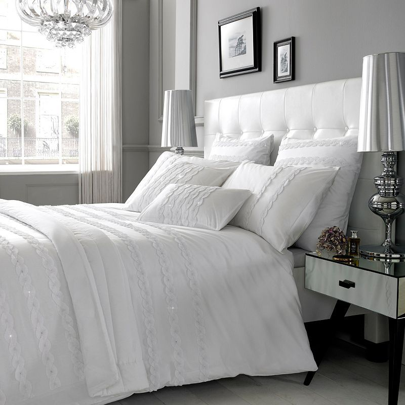 Buy Kylie Minogue at Home Alice Duvet Cover, White online at JohnLewis.com - John Lewis