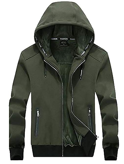 0911af98b37 ARRIVE GUIDE Mens Plus Size Drawstrings Sherpa Lined Winter Hooded Jackets  Review