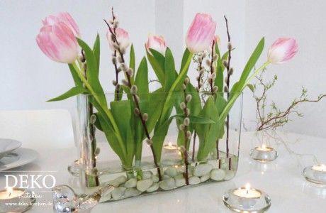 Diy Schnelle Fruhlingsdeko Fur Den Tisch Deko Fruhjahr Easter
