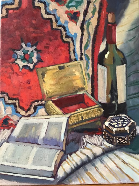 Still Life Baudelaire Artificial Paradises Painting Oil On Canvas