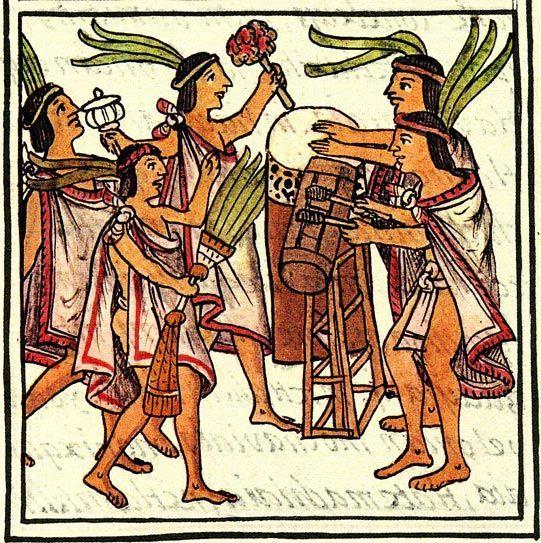 Aztec drums, Florentine Codex  - Florentine Codex