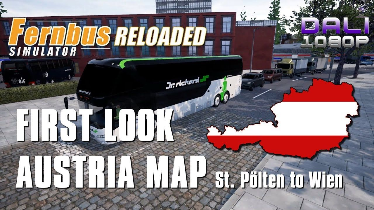 Fernbus Simulator First Look At Austria Map St Polten To Wien