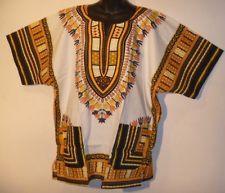 88a7c4a6118 White Black Gold SCRUB Rasta African Dashiki Shirt Tunic Top Fits M L XL 1X  NWT