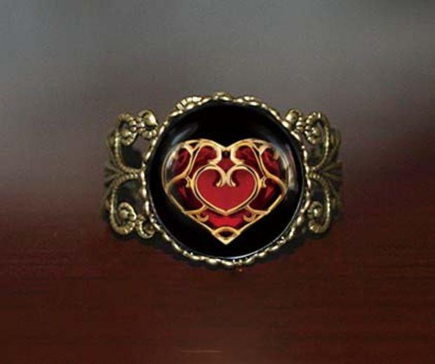 life Zelda heart container Adjustable Ring, legend of Zelda Vintage Adjustable ring jewelry