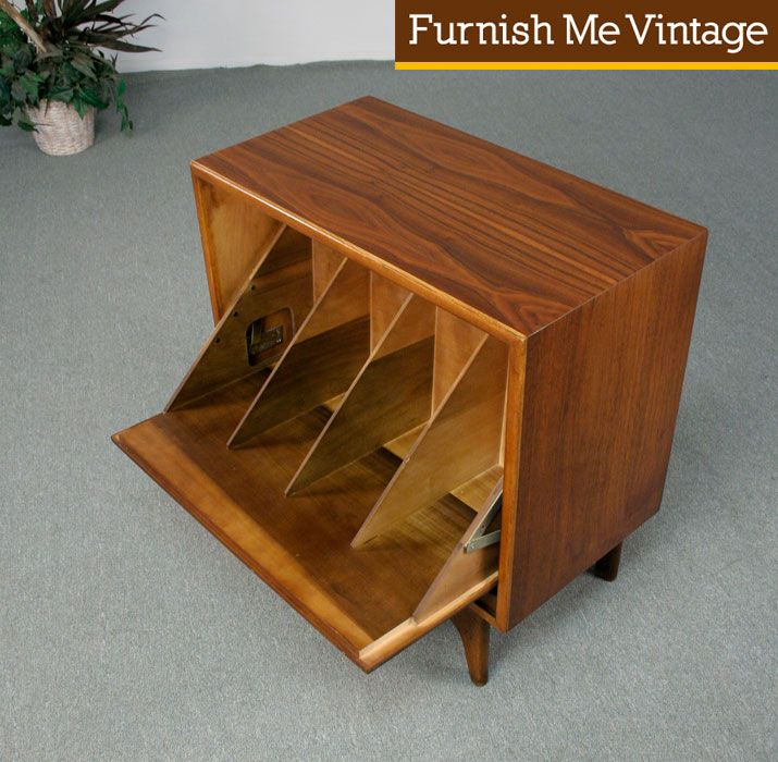 Refinished Vintage Lane Perception Record Cabinet | Record ...