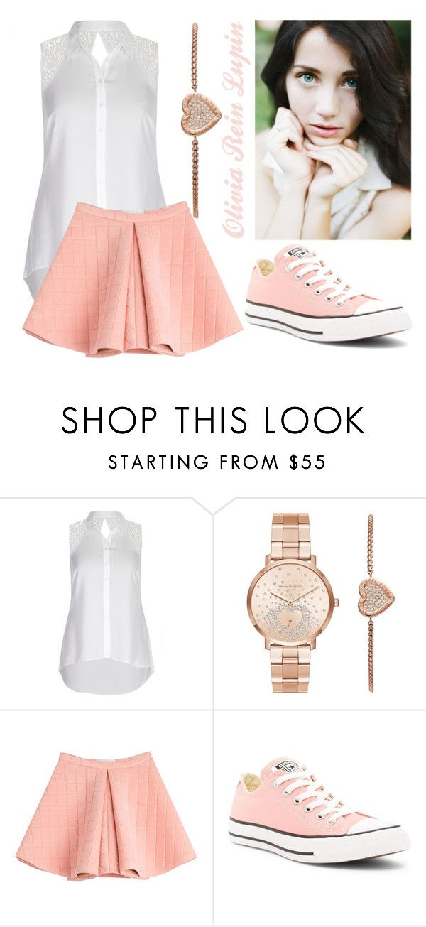 """Going Back - RP"" by gabby-lupin ❤ liked on Polyvore featuring City Chic, Michael Kors, Marina Hoermanseder and Converse"