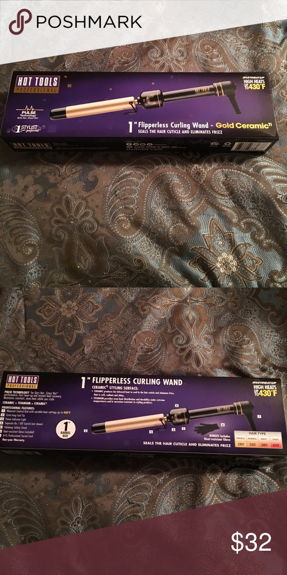 """Hot Tools Curling Iron NWT 1"""" Barrel Never opened! Voted best selling hair tool in America! For smooth, frizz free curls. I have one of these and love it! Just didn't need the 1"""" for my hair. Clip free!                                  Smoke free home 🚬❌ Ships ASAP 📦 Bundle to save 🤑 Open to all offers 🤔 Welcome to my closet! 😘 Hot Tools Accessories Hair Accessories"""