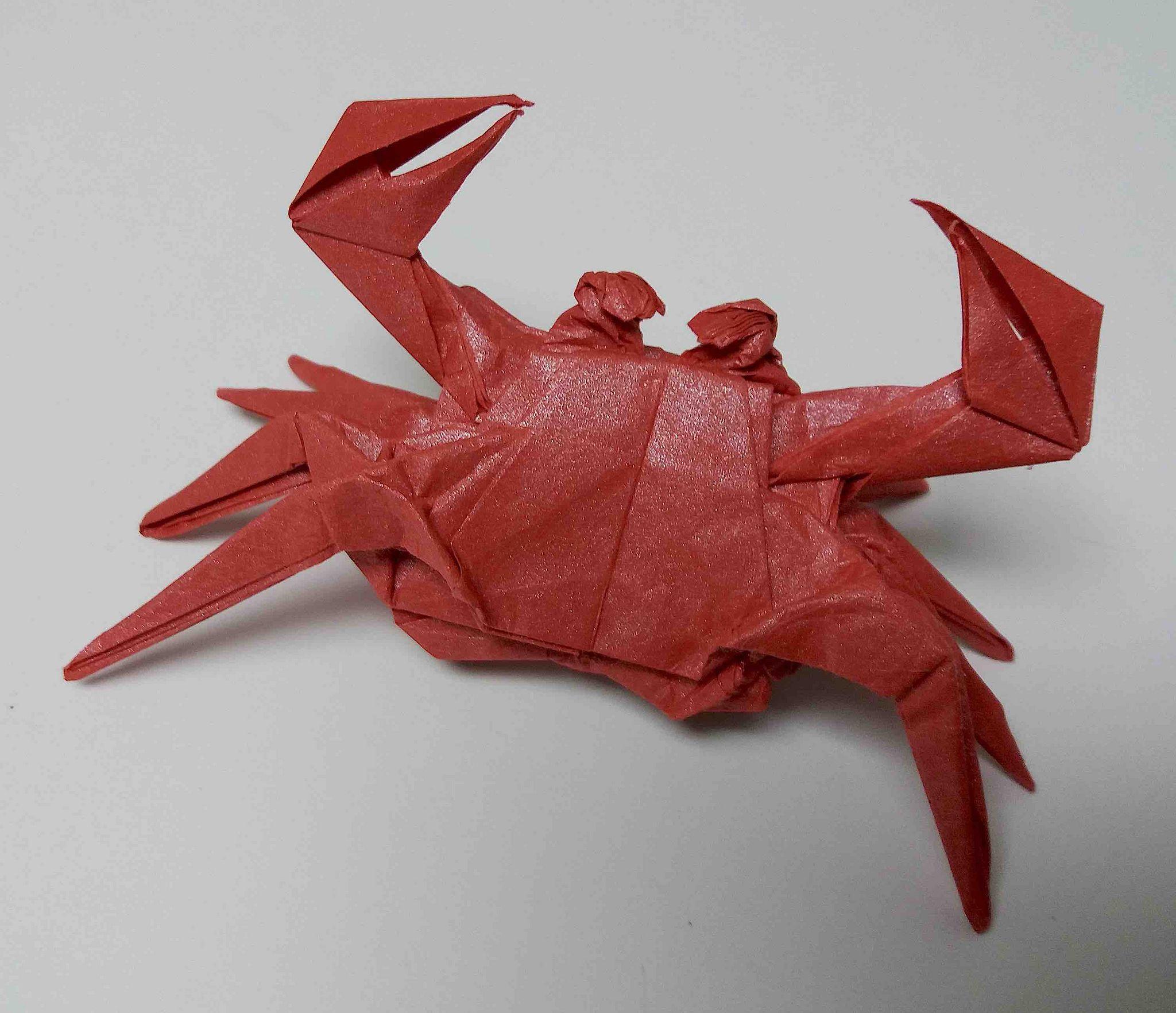 Hisao Fukui Crab Origami Diy Origami Paper Art