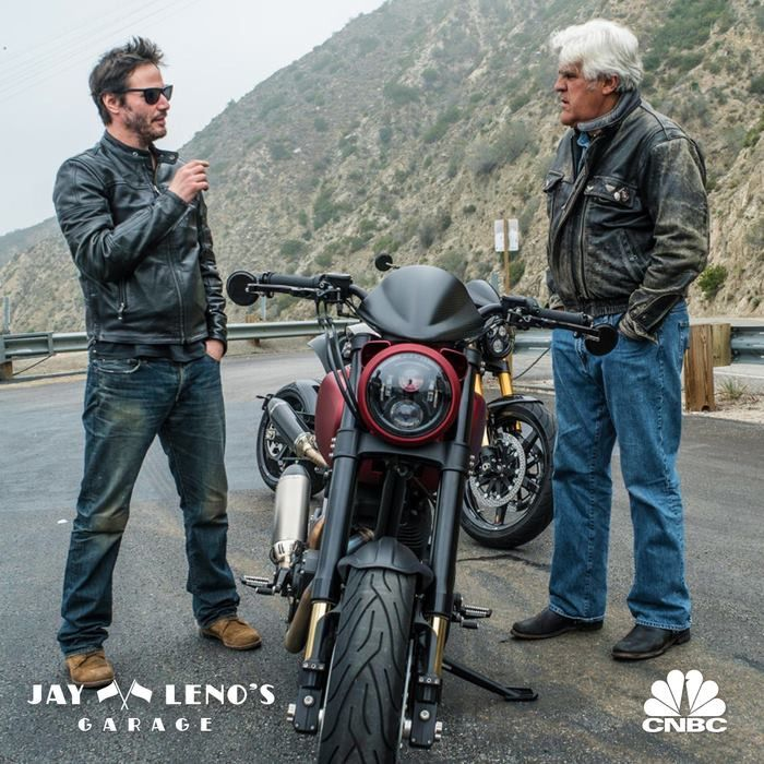 Keanu Reeves With Jay Leno.