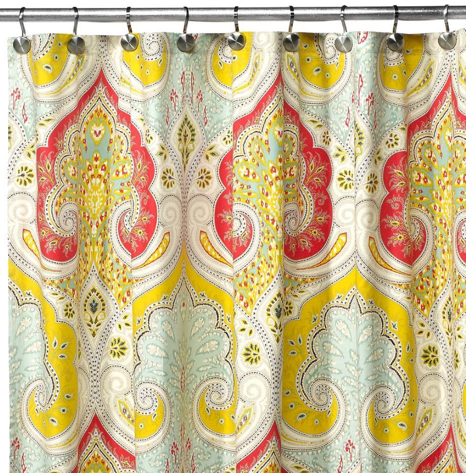 Echo design jaipur fabric shower curtain new x new home