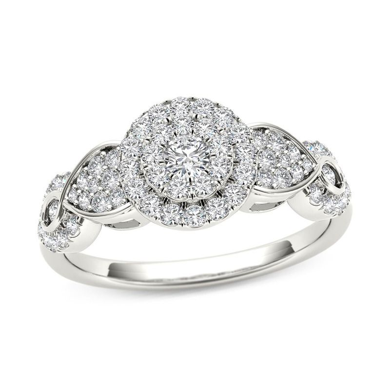 oval w ring engagement split diamond in composite pin t shank ct