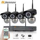 Jennov 720P 4CH Wireless Security Camera System Home Night Vision Surveillance