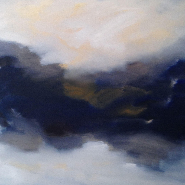 'Silvermines', oil on canvas, 80x80cm. SOLD www.siobhanleonard.com