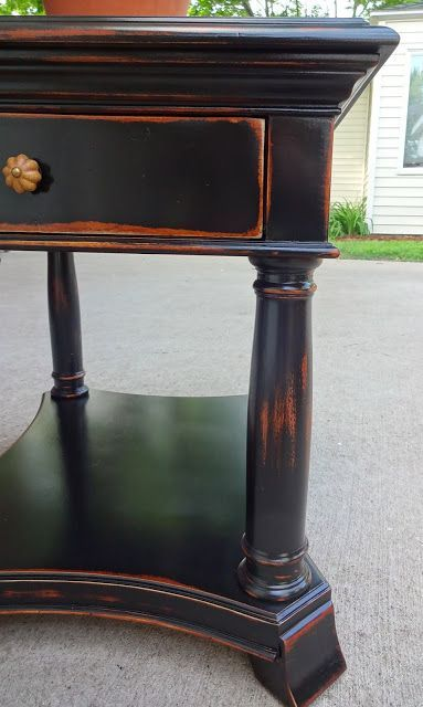 Black Paint Over Stain I Want This For The Base Of The