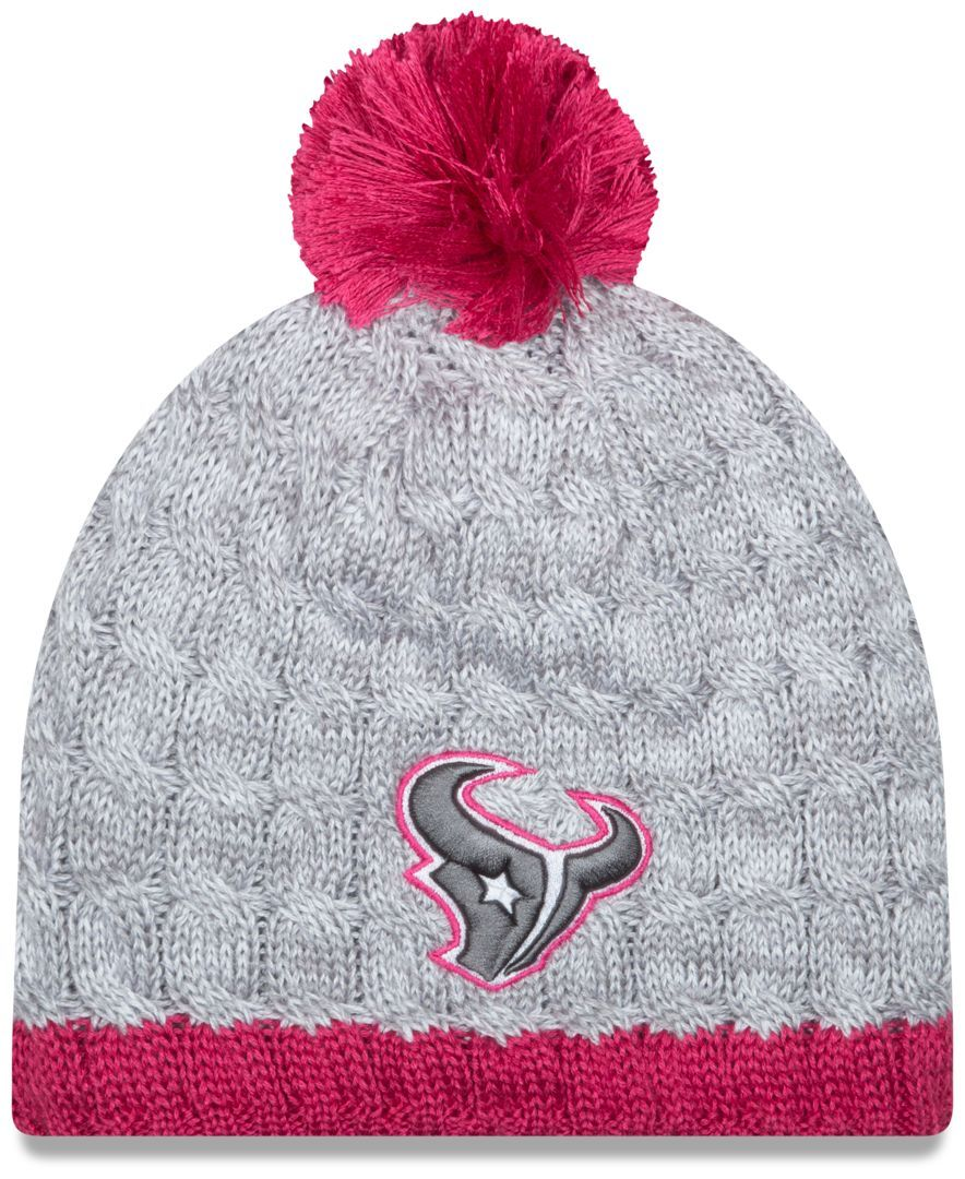 New Era Women s Houston Texans Breast Cancer Awareness Knit Hat ... 116cbbfe998