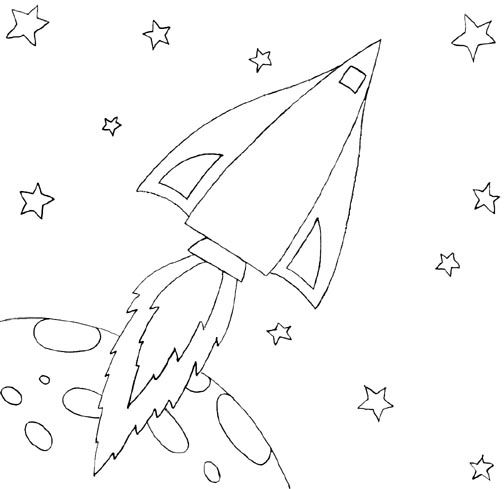 Wayne Schmidts Free Space Ship Coloring Page Learning Pinterest