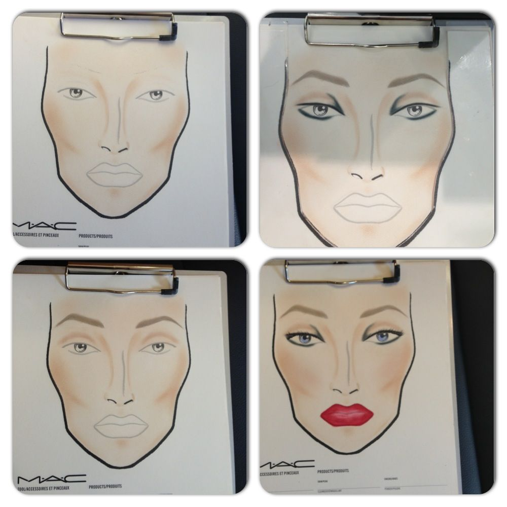 step by step mac face chart makeup face charts