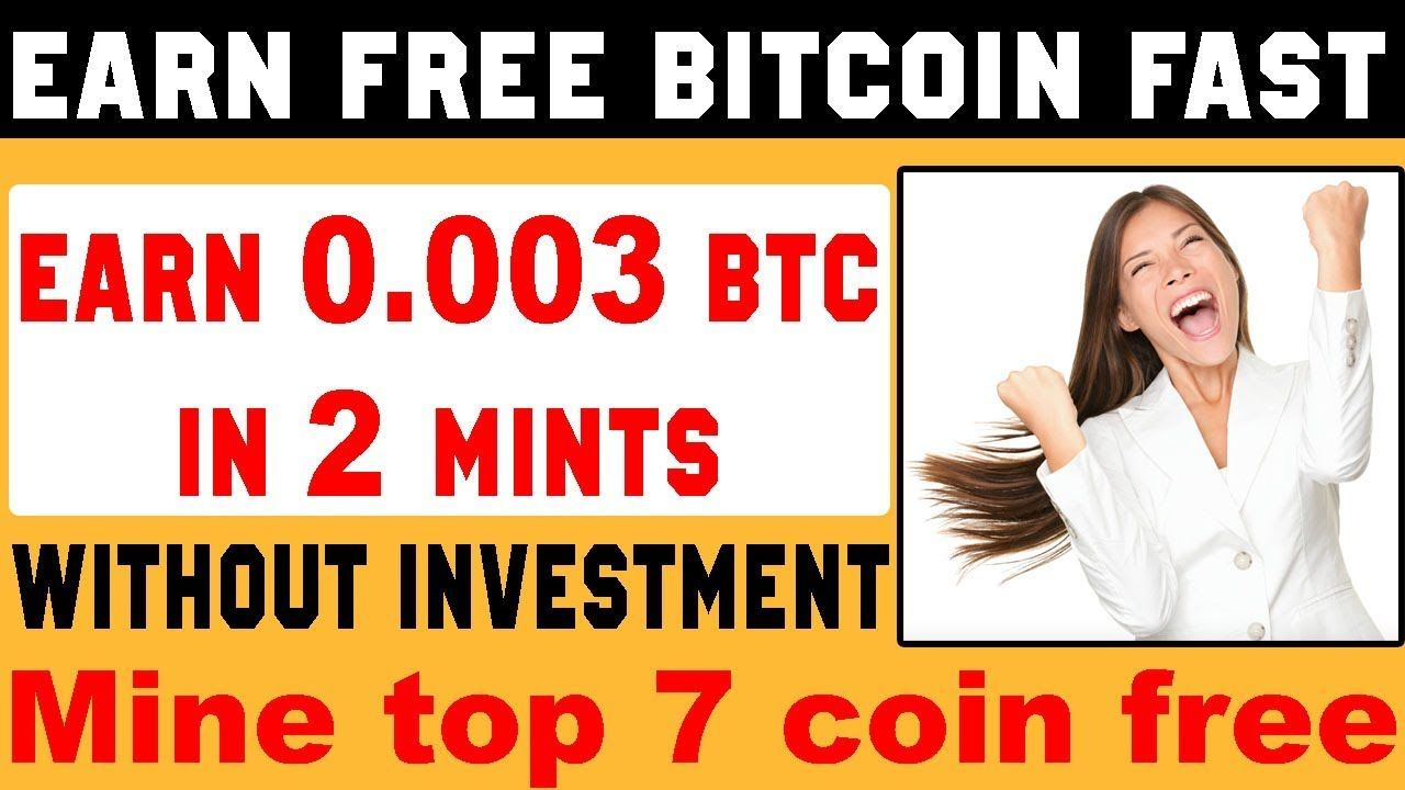 Earn Free Bitcoin cloud mining fast and get 0 003 BTC