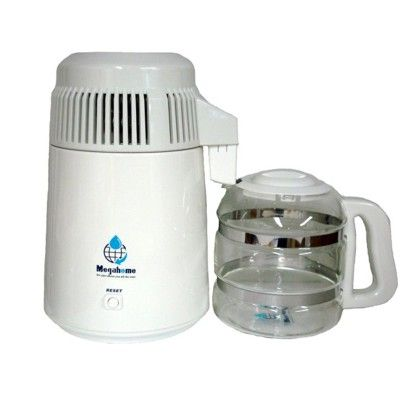 Water Distillers Megahome Water Distiller White Enamel With Images Glass Collection Water Distillers Distilled Water