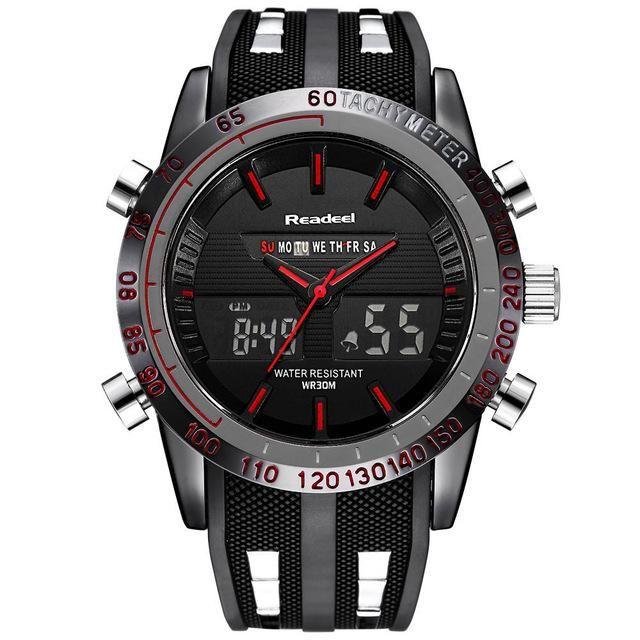 Readeel Mens LED Digital Quartz Watch