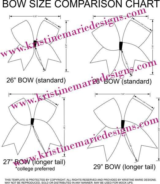 Template for making mock ups and for cheer bow size reference ...