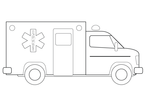 Ambulance Truck Coloring Page From Rescue Vehicles Category Select From 26388 Printable Crafts Of Carto Ambulance Truck Truck Coloring Pages Baby Art Projects
