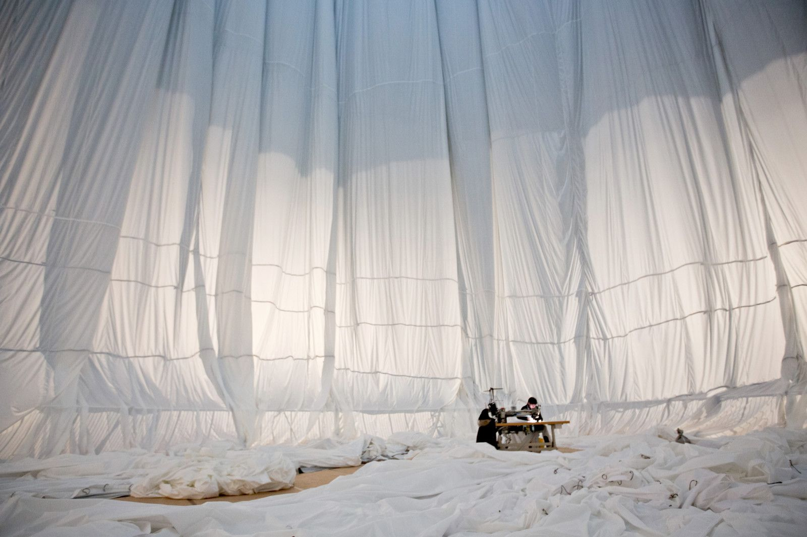Christo Big Air Package, 2010, 20,350 sqm of