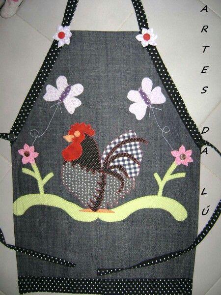 Arm gallinitas t cnica patchwork lencer a de cocina delantal delantal con - Patchwork para cocina ...