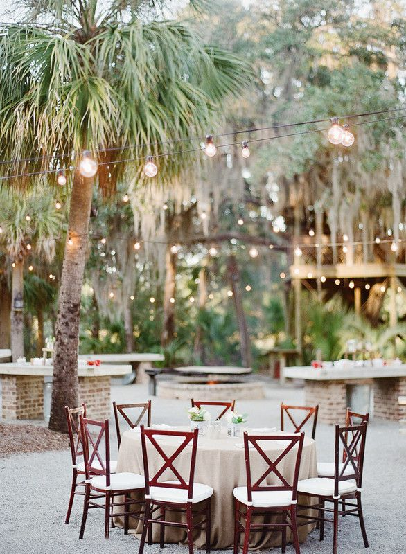 A perfect reception setting for an outdoor wedding!  {Photo courtesy of @reveriemade}