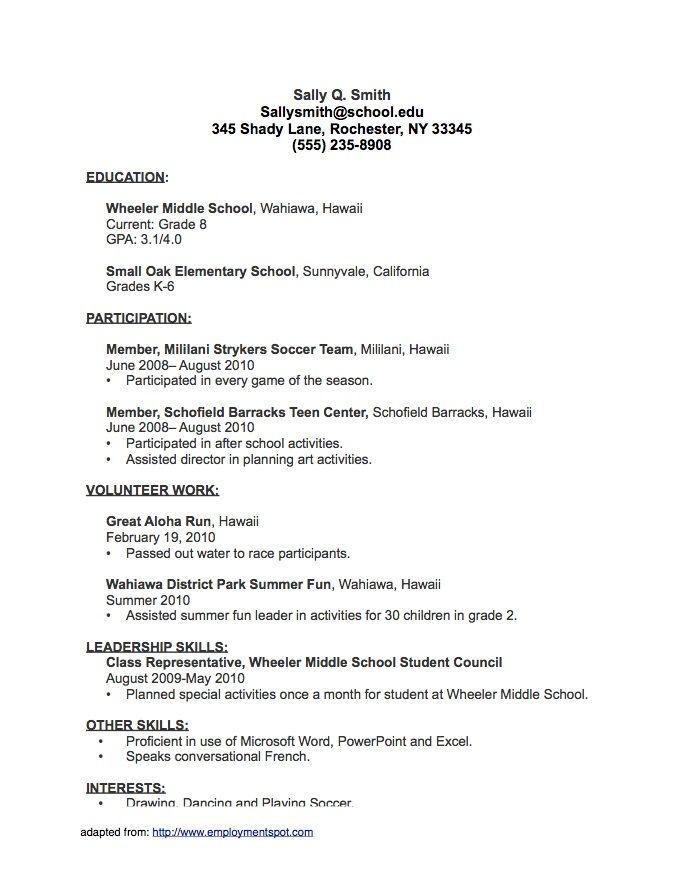 Sample Student Resumepng Best Job Resume Job Resume Samples Student Resume Job Resume