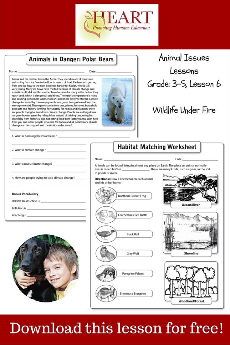 HEART Humane Education Wildlife Under Fire (Grades 35