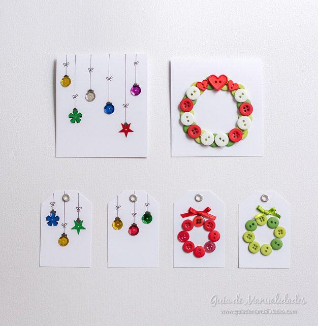 2 ideas para tarjetas y etiquetas navide as en minutos - Ideas para hacer postales de navidad con ninos ...