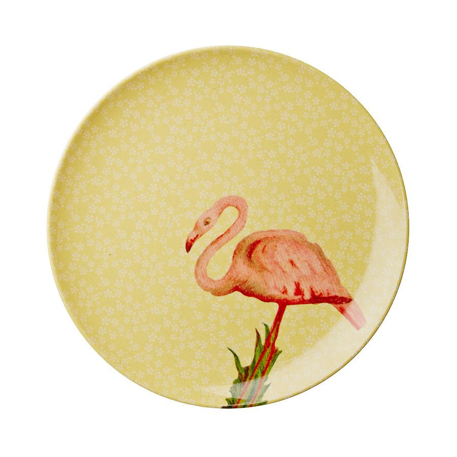 Rice DK Melamine Dinner Plate Flamingo Print | Rice DK Melamine Dinner Plate Peacock Print – BellaKoola - Cool Design Gift & Lifestyle Shop