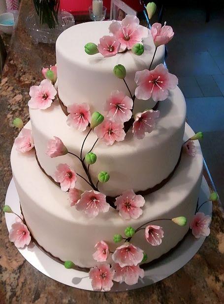 Cherry Blossom Cake Cherry Blossom Cake Cherry Blossom Wedding Cake Spring Cake